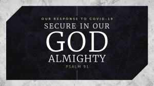 Secure in Our God Almighty